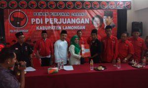 Wabup Lamongan daftr calon Bupati di PDIP Lamongan