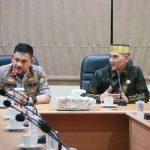 Kapolda Sulsel Irjen Pol Mas Guntur Laupe jumpa Raja Gowa di Mapolda Sulsel, Selasa, 29 Oktober 2019 (Foto: Jaya/zonatimes.com)