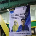 PMII Metro Makassar beri ucapan selamat datang untuk Ketua Kopri PB PMII dan PKC Sulsel ( Foto: Nurita Sari/zonatimes.com)