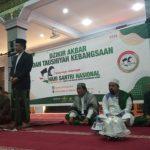 Wakil Rektor UIN Alauddin Makassar, Dr Kamaluddin Abunawas Tausiah Kebangsaan di Masjid Taqwa, Makassar, Minggu, 20 Oktober 2019. (Foto: Istimewa/zonatimes.com)
