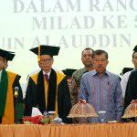 JK Hadiri Milad UIN Alauddin ke 54 (Foto:webuin/zonatimes.com)